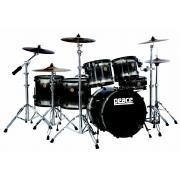 Peace DP-22DNA-3 ударная установка #501 Satin black черная из 3-х барабанов (10 малый барабан/16/22) 9 слоев клена