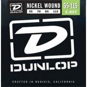 Dunlop Electric Bass Nickel Wound Extra Heavy DBN55115 (55-115) струны для бас-гитары
