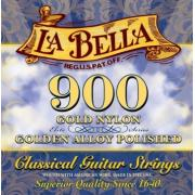 La Bella Elite Gold Nylon Polished Golden Alloy 900 струны для классической гитары