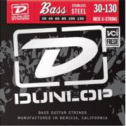 Dunlop Electric Bass Stainless Steel Medium 6 String DBS30130 (30-130) струны для бас-гитары, 6 струн