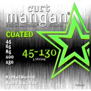 Curt Mangan Bass Nickel Wound Coated 5 String (45-130) струны для бас-гитары, 5 струн