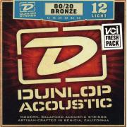 Dunlop Acoustic 80/20 Bronze Light DAB1254 (12-54) струны для акустической гитары