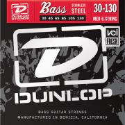 Dunlop Electric Bass Stainless Steel Medium 6 String Tapered B DBS30130T (30-130) струны для бас-гитары, 6 струн