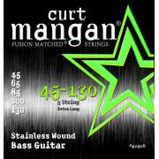 Curt Mangan Bass Stainless Wound 5 String (45-130) струны для бас-гитары, 5 струн