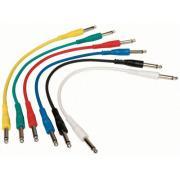 Alpha Audio Basic Line Patch 190300 кабель для соединения гитарных эффектов, 10 см, 6 шт