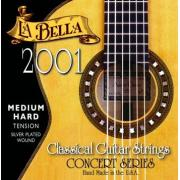 La Bella Classical Medium Hard Tension 2001 струны для классической гитары, нейлон+серебро