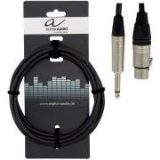 Alpha Audio Peak Line 190880 микрофонный кабель, джек - XLR, 3 м