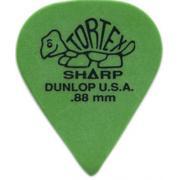 Dunlop 412P.88 Tortex Sharp Green 12 Pack комплект медиаторов, 0,88 мм, 12 шт