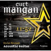 Curt Mangan 80/20 Bronze 12 String (11-52) струны для акустической гитары