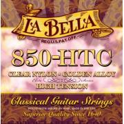 La Bella Elite Clear Nylon Golden Alloy High Tension 850-HTC струны для классической гитары