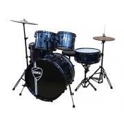 Peace DP-202BK-22 Arctic blue ударная установка из 5-ти барабанов, цвет arctic blue cиний, черные лаги, обручи и стойки