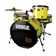 Peace DP-210-CH Yellow ударная установка из 5-ти барабанов, цвет желтый, полный комплект