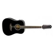FLIGHT D-200/12 BK EQ+чехол - 12-ти струнная гитара