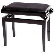 GEWA Deluxe Black Highgloss банкетка фортепианная черная глянцевая черное сиденье