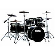 Peace DP-22DNA-3 ударная установка #501 Satin black черная из 4-х барабанов (10/малый барабан/16/22) 9 слоев клена
